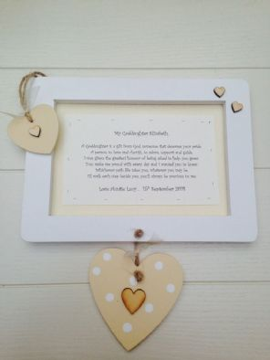 Shabby personalised Gift Chic Special Goddaughter Christening Baptism Present